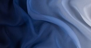 Blue and Ivory Ombre Silk Chiffon