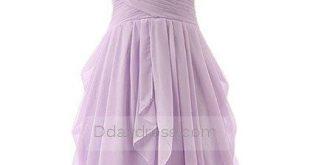 Classic Sweetheart Lavender Chiffon Ruffles ShortMini Bridesmaid Dress Itembd0058