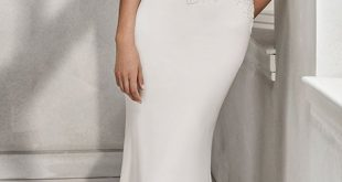 Alluring Lace & Chiffon Jewel Neckline Natural Waistline Mermaid Wedding Dress