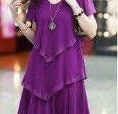 Black V Neck Tiered Chiffon Dress on sale only US$27.79 now, buy cheap Black V N...