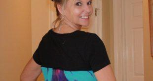 DIY Tshirt Refashion with Chiffon Fabric