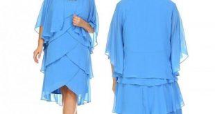 SLNY Womens Plus Size Gem Stone Neckline Dress with Chiffon Cardigan 2019 Wome...