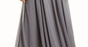 Bridesmaid Skirt, Long Gray Chiffon Maxi Circle Skirt