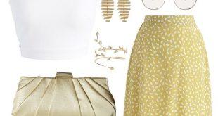 Chic Spot Chiffon Skirt on Sale