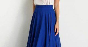 Bridesmaid Skirt, Long Royal Blue Chiffon Maxi Circle Skirt