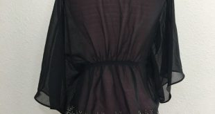 Daytrip black gold sheer chiffon cardigan Thin, delicate material See-through T...