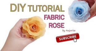Fabric Rose (DIY, how to make, paso a paso, tutorial, step by step) - Subscribe ...