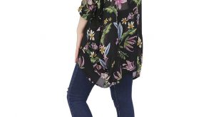 HDE Womens Sheer Chiffon Cardigan Loose Summer Cover up Kimono Boho Half Sleeves (Black Floral, Small)