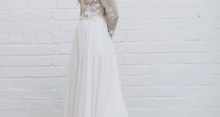 Lace Wedding Dress - CHARLOTTE / 3D Wedding Gown / Long Sleeve Wedding Dress / Chiffon Wedding Skirt