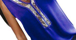 Lace white Chiffon Sequins Blouse Women Tops Sleeveless V-Neck Black shirt pink Chiffon Tops