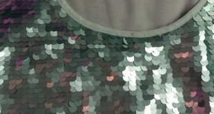 Mossimo Seaford Green Sequin Tank with Chiffon Large matte seafoam green sequin...