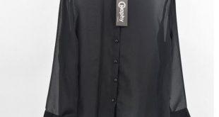 See Through Chiffon Blouse 2018 Turn Down Collar Transparent Blouse Perspective Chiffon Blouse Long Sleeve Transparent Shirt