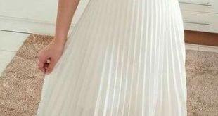 WHITE MOON PLEAT CHIFFON MAXI SKIRT in WHITE – Koogal