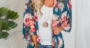 Women Shirt Kimono Boho Cardigan Vintage Floral Print Blouse Loose Shawl Cape Knits Bohemian Coat Jacket Two Color