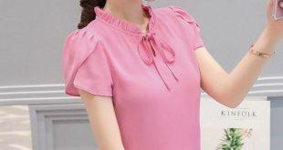 2018 Summer Women Work Blouse And Shirt Office Lady Ruffle Sleeved Sweetrricdress