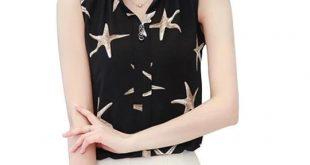 2018 White Chiffon Sleeveless Summer Womens Tops and Blouses Shirts Casual femininerricdress