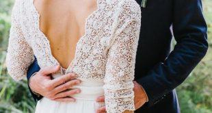 3/4 Ärmel Sehen Sie sich die rustikalen Brautkleider in Spitze und Moos an ... ...