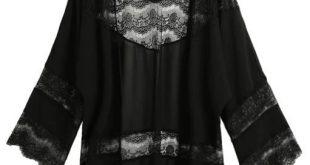 5XL Vintage Women Chiffon Blouse Kimono Cardigan 2018 Plus Size Floral Lace Blouse Shawl Oversized Tops Outwear Blusas Femininas