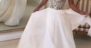 Beach Wedding Dresses 2019 Lace Open Back Chiffon Bridal Gowns – slayingdress