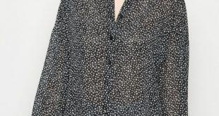 Black Chiffon Ditsy Floral Oversized Shirt