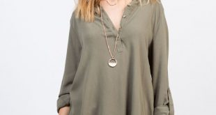 Button Up Chiffon Shirt
