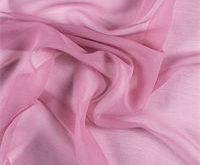 Carnation Pink Crinkled Silk Chiffon