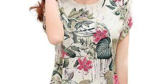 Casual Loose Blouse Shirt 2018 Blusas Floral Print Women'S Chiffon Blouses Ladies Shirts Summer Tops 2Xl A XL