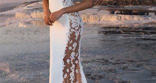 Charming Mermaid Appliques Straps Sleeveless Jewel Prom Dress