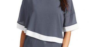 Chiffon Blouse Shirt Women Casual O Neck Solid Patchwork Fashion Woman Blouse 2018 Shirt Top Womens Tops and Feminine Blouses