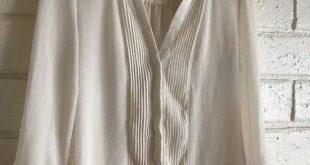 EUC H&M Cream Colored 3/4 Sleeve Chiffon Blouse EUC, EXCELLENT USED CONDITION, H...