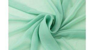 Green Mint Solid Hi-Multi Chiffon Fabric
