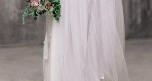 ICIDORA SKIRT // Separate bridal skirt, wedding separates, wedding skirt, chiffon skirt, tulle skirt, long skirt with train, boho, grey
