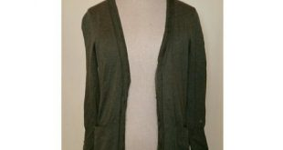 J. Crew Leigh Chiffon cardigan in Olive Green Good condition cardi light weight ...