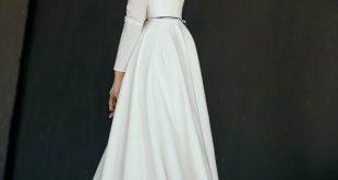 MAKANI // High Low Skirt Modest Brautkleid | Etsy - Kleidung - #Brautkleid #Et...