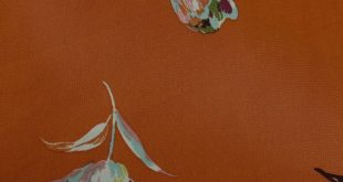 """Red Clay Canal Blue 58"""" Magnolia Flowers Prints on Chiffon Fabric"""