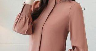 Spring Women Blouse Long Sleeve Chiffon Blouse Shirt Mujer Top Ladies Shirts Women Casual Tops Plus Size Clothing khaki XXXL