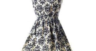 Women chiffon beach dress sleeveless summer sundress floral tank dresses 20 colors