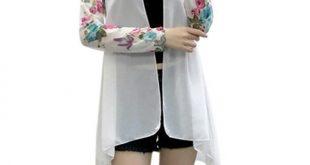 new Women Fashion Chiffon Cardigan jacket size m